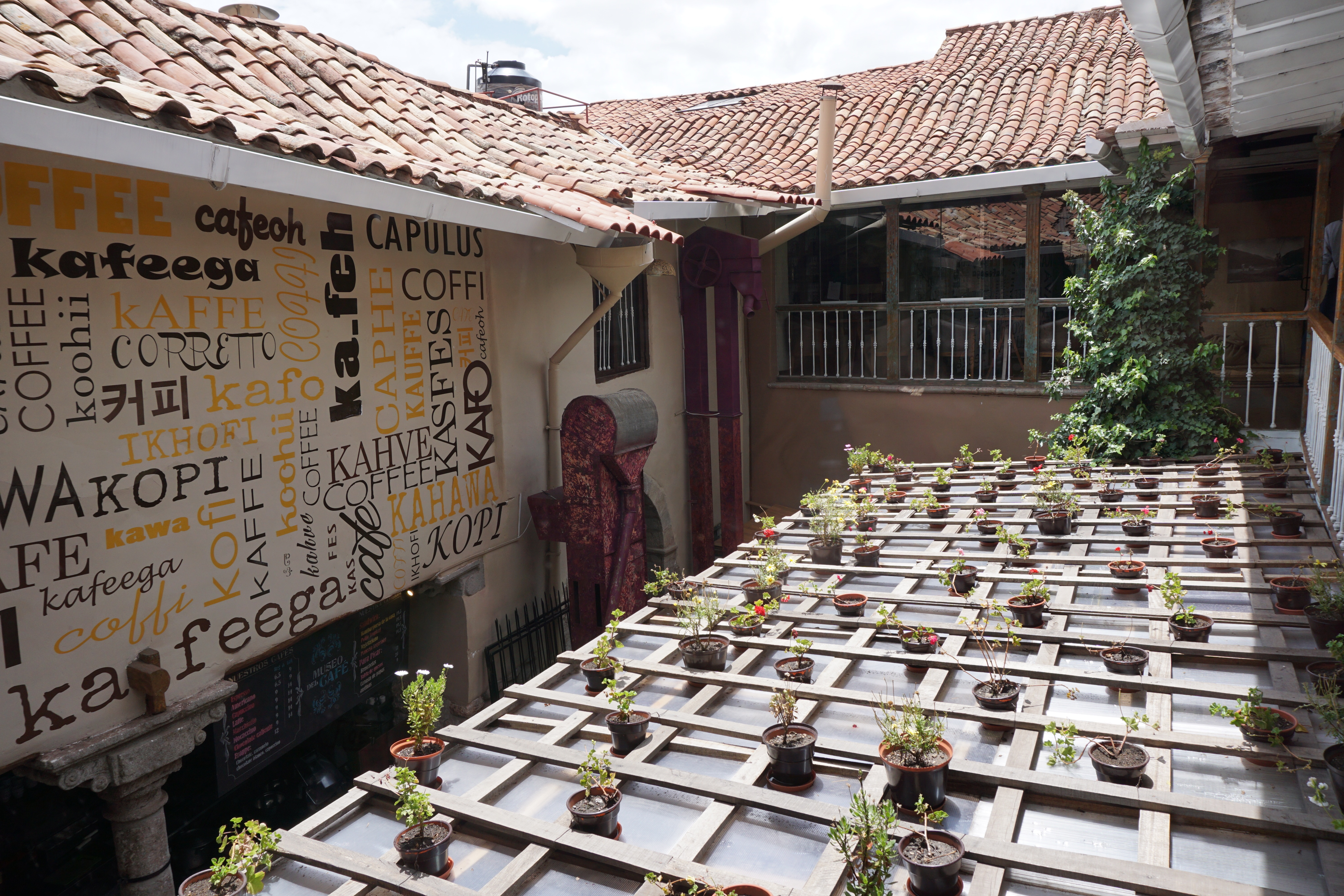a visit to Cusco's coffee museum (Peru is the worlds 9th largest exporter of coffee)