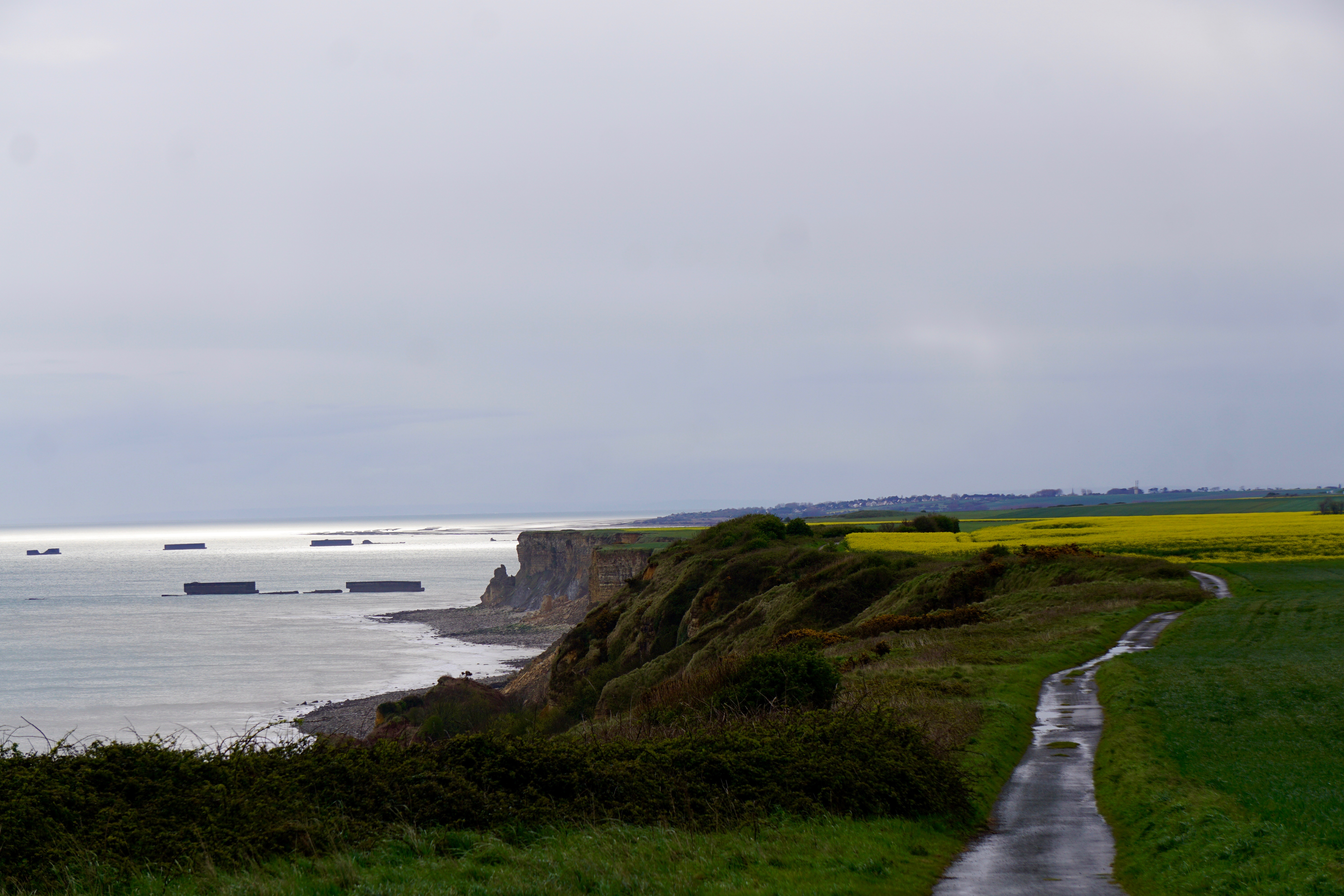 Normandy, remnants of the war remain in the ocean