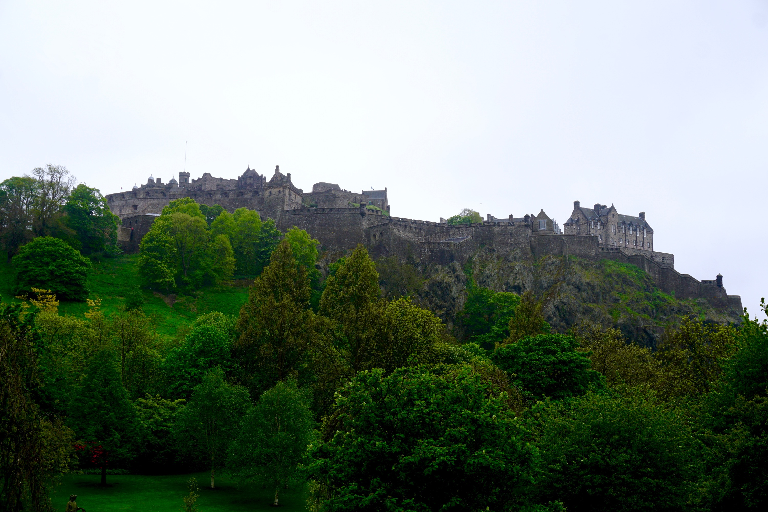 Edinburgh Castle, in the heart of the city