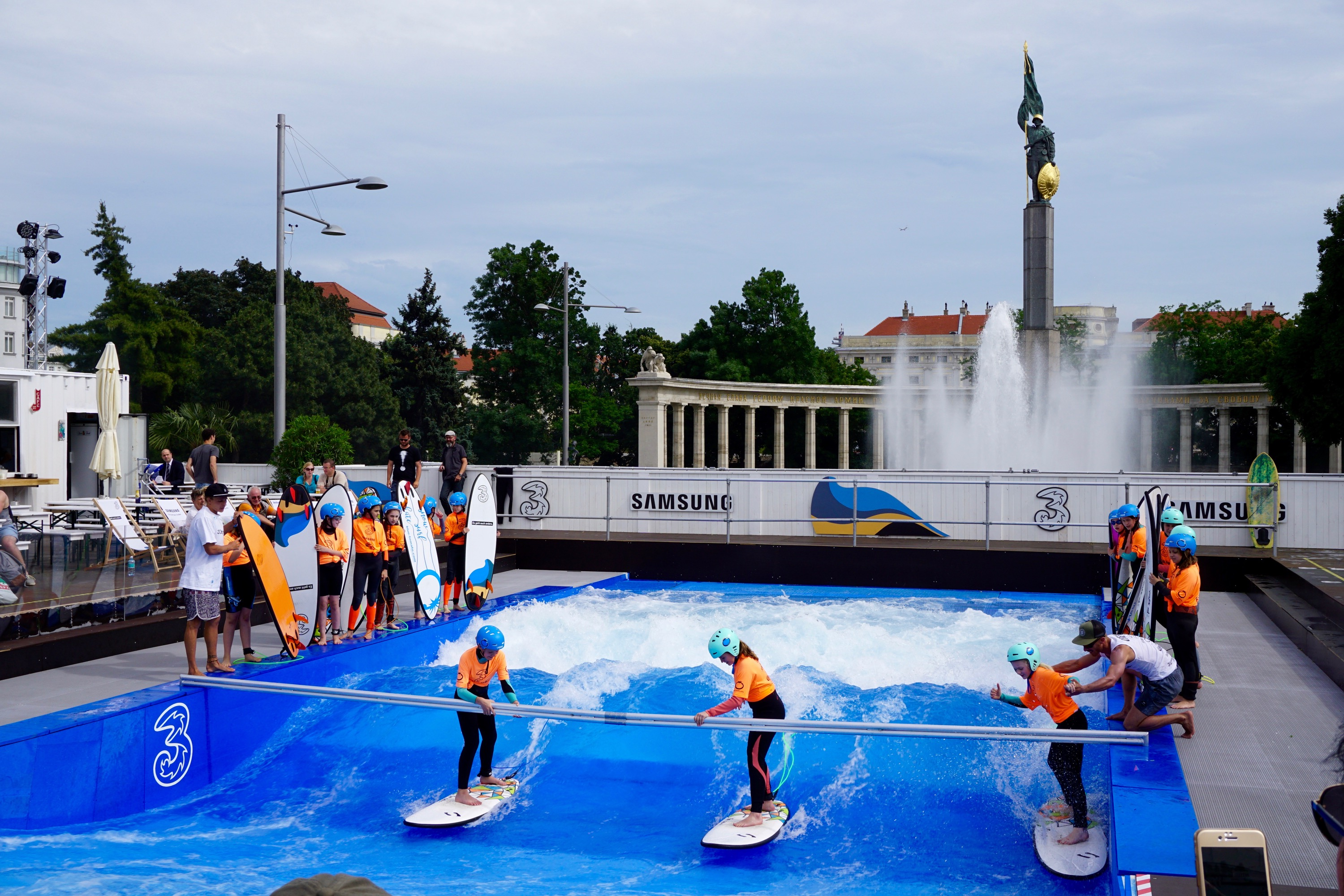 surf school in the heart of Vienna