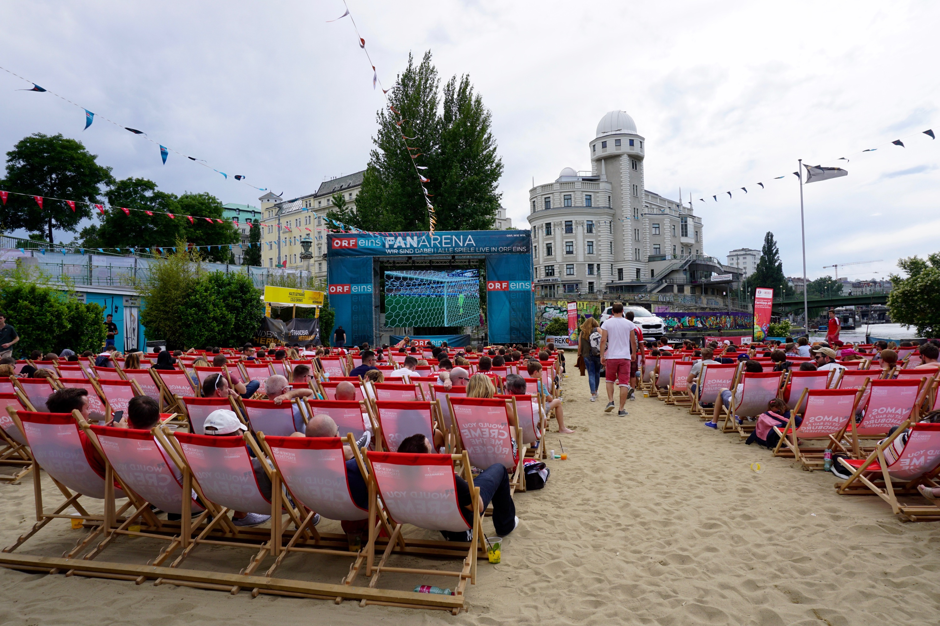 Euro Cup 2016 beach party on the river