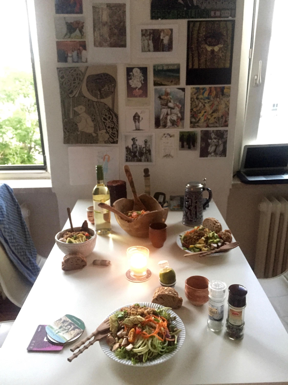 LJ cooked us dinner...
