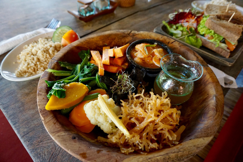 amazing organic food in Ubud