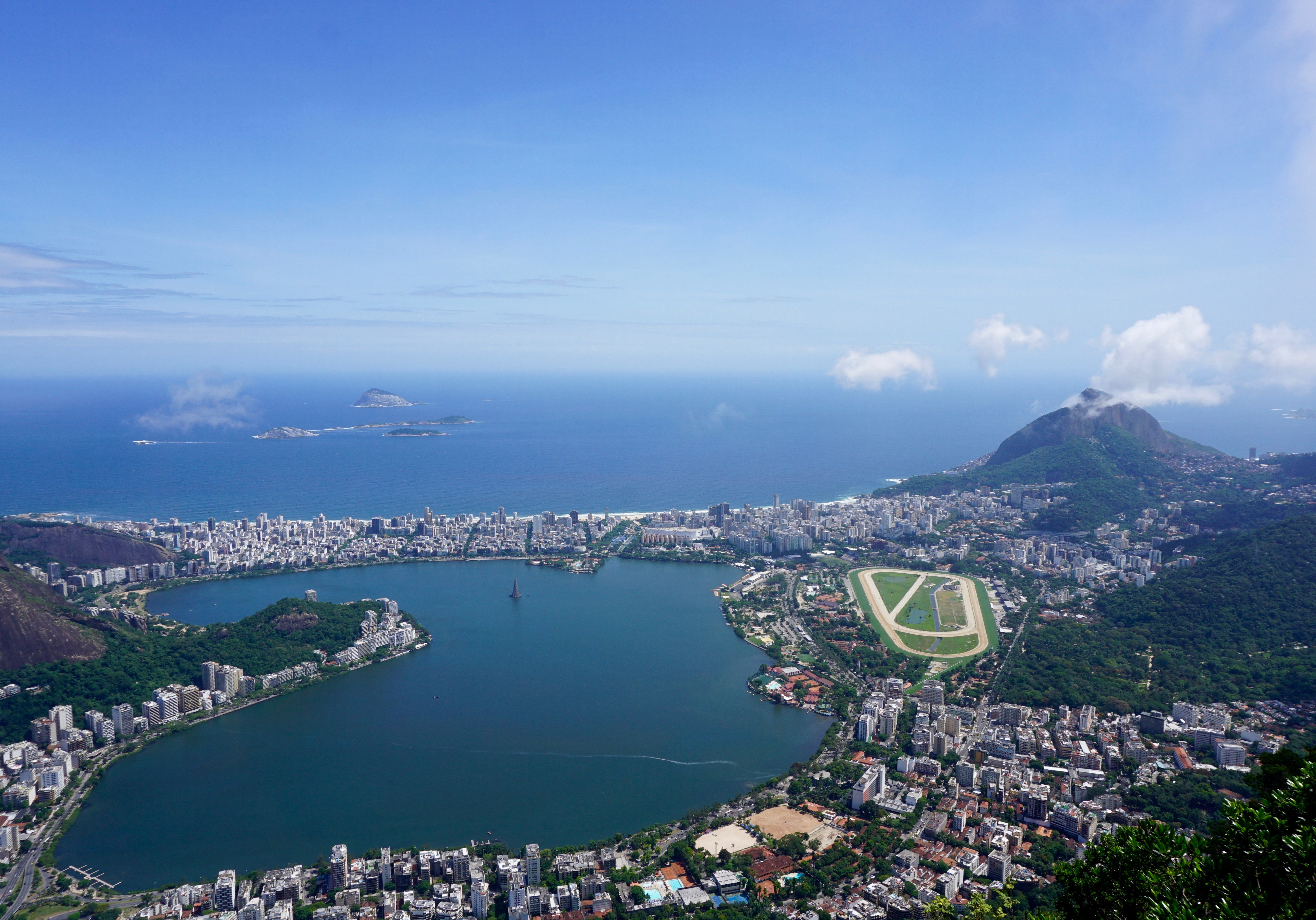 view of Lagoa from Corcovado