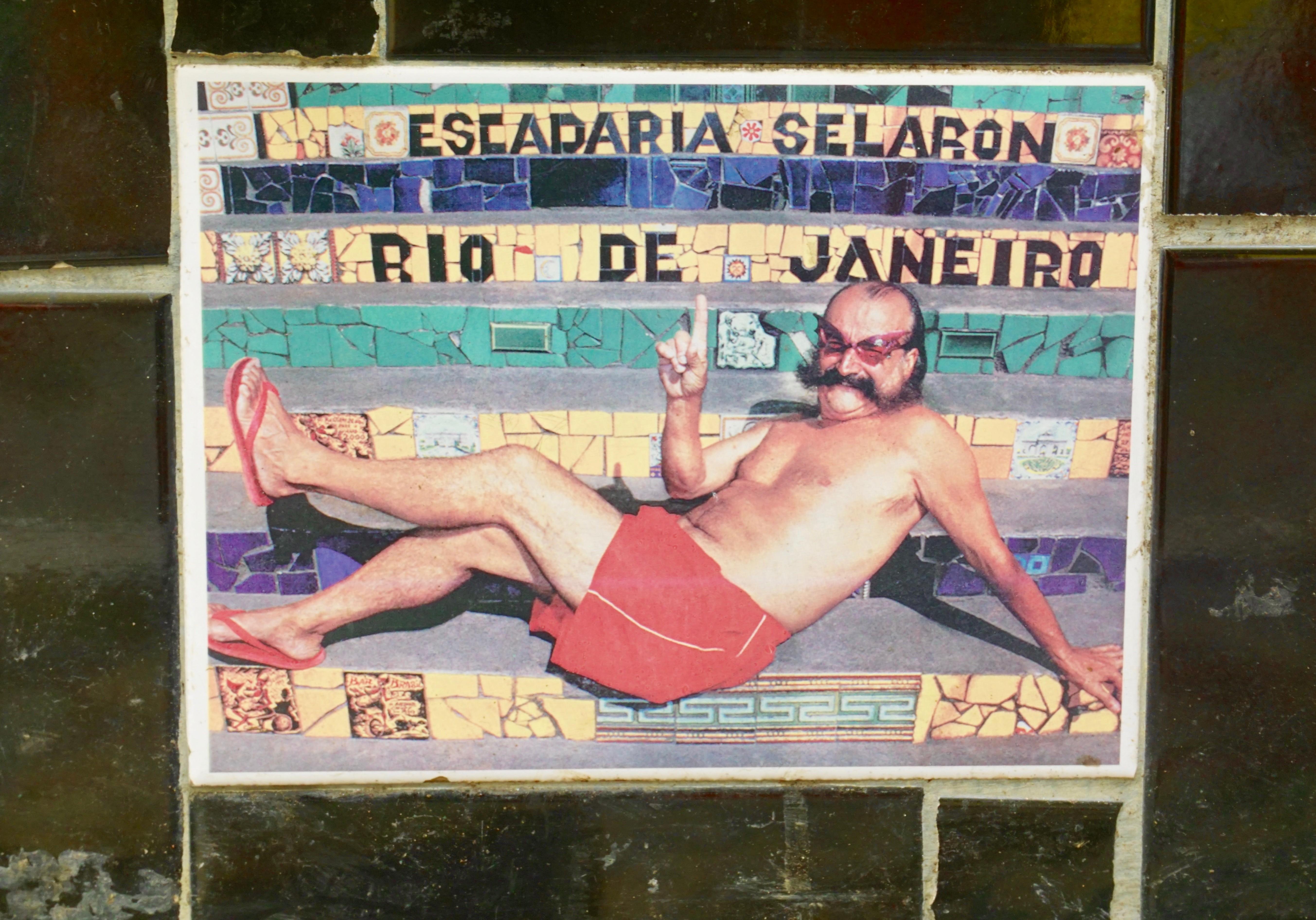 Chilean-born artist Jorge Selarón created the Escadaria Selarón ( 'Selaron Steps')