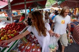 Sao Paulo fresh street market
