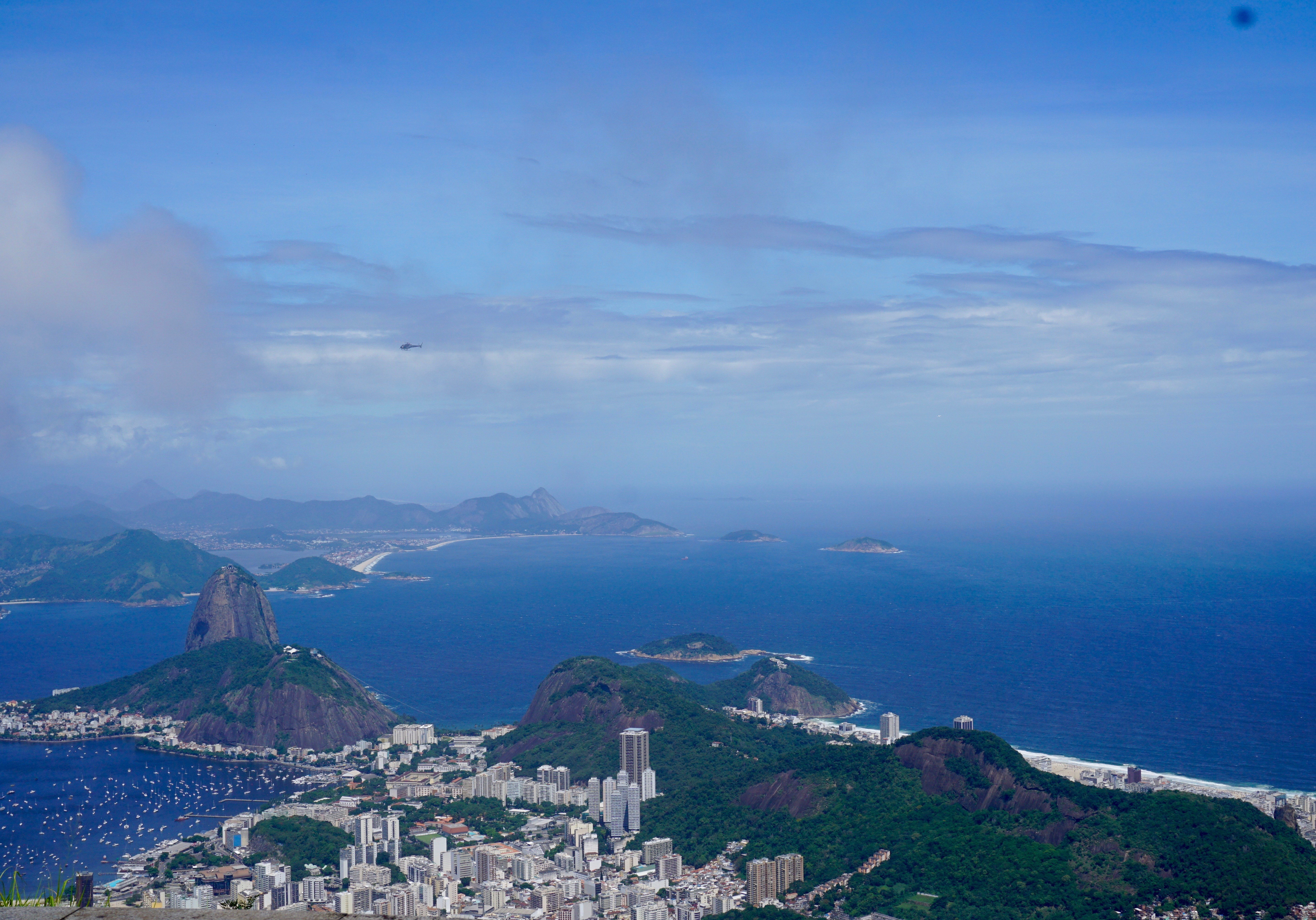 view of Sugarloaf Mountain from Corcovado