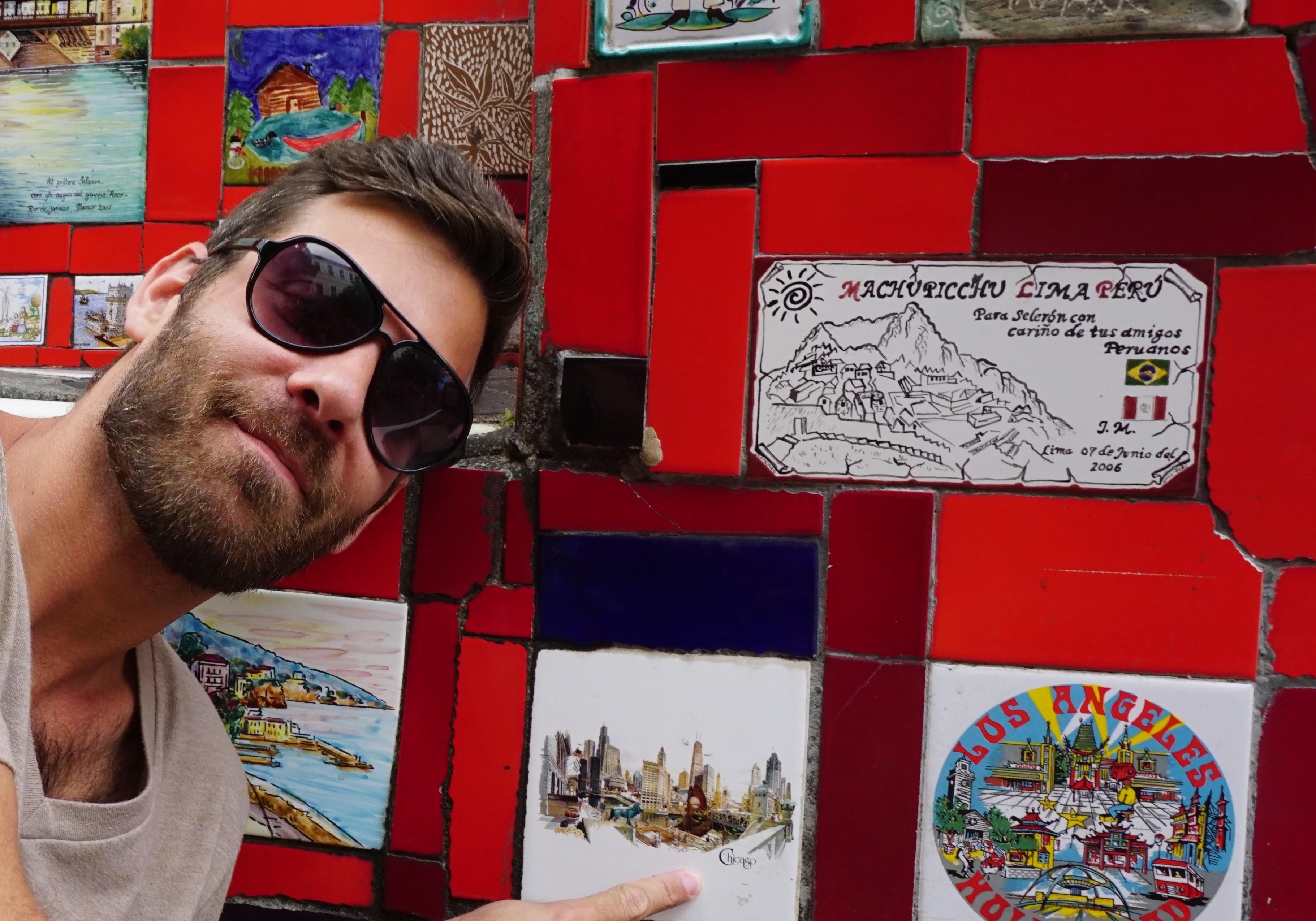 2,000+ mosaic tiles...of course Sean found Chicago!