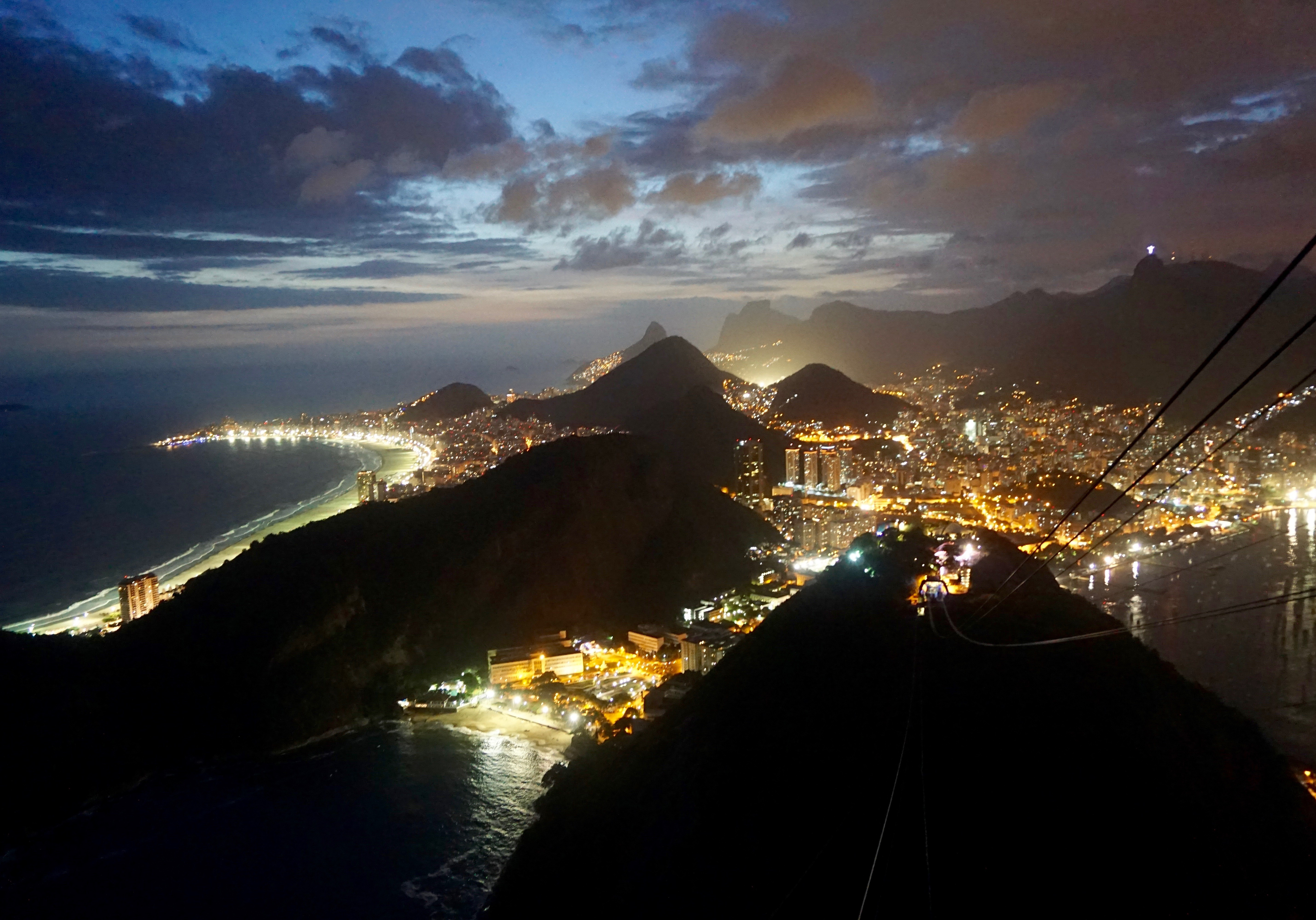 night view from Sugarloaf