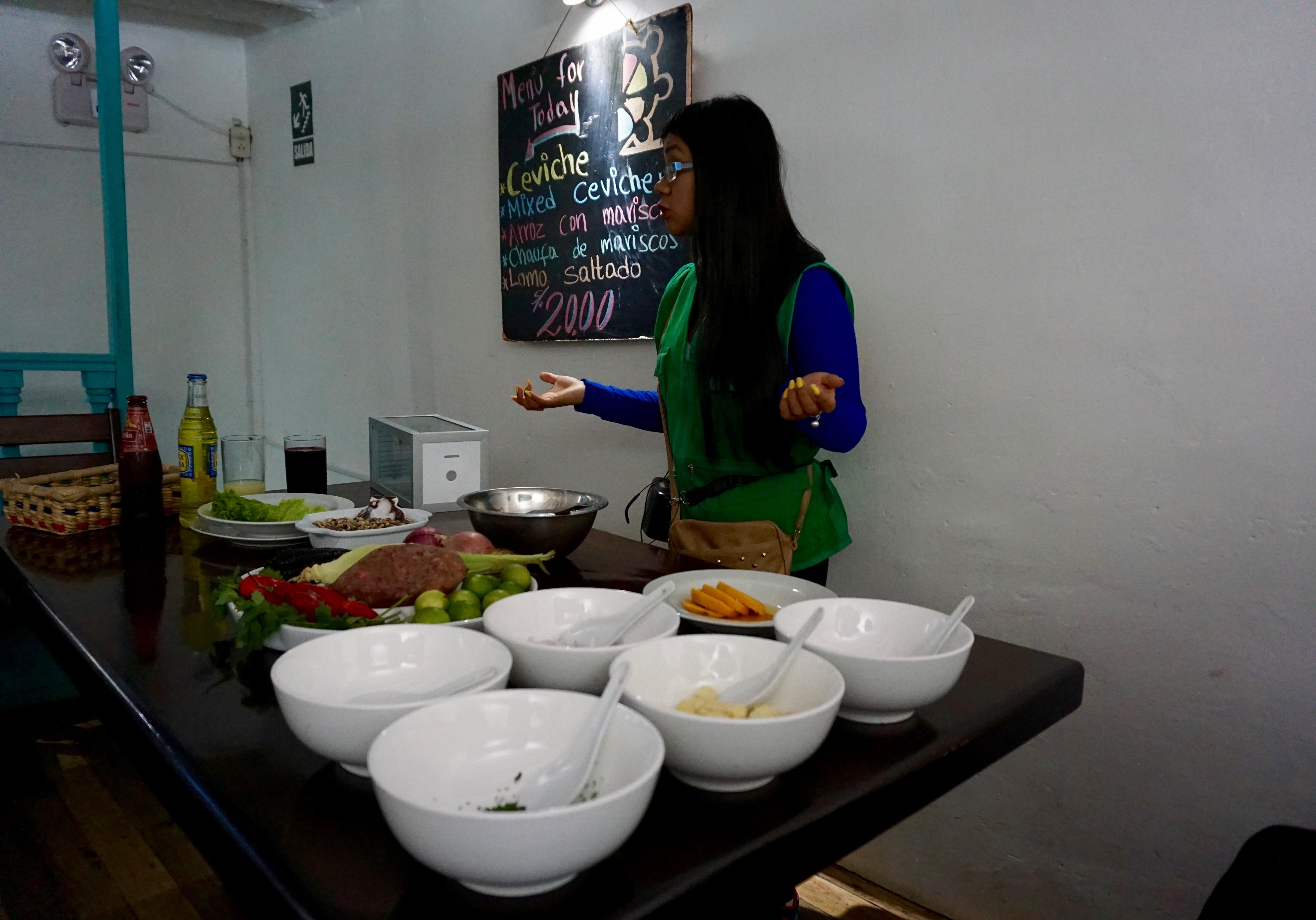 a ceviche cooking class... mmm mmm!