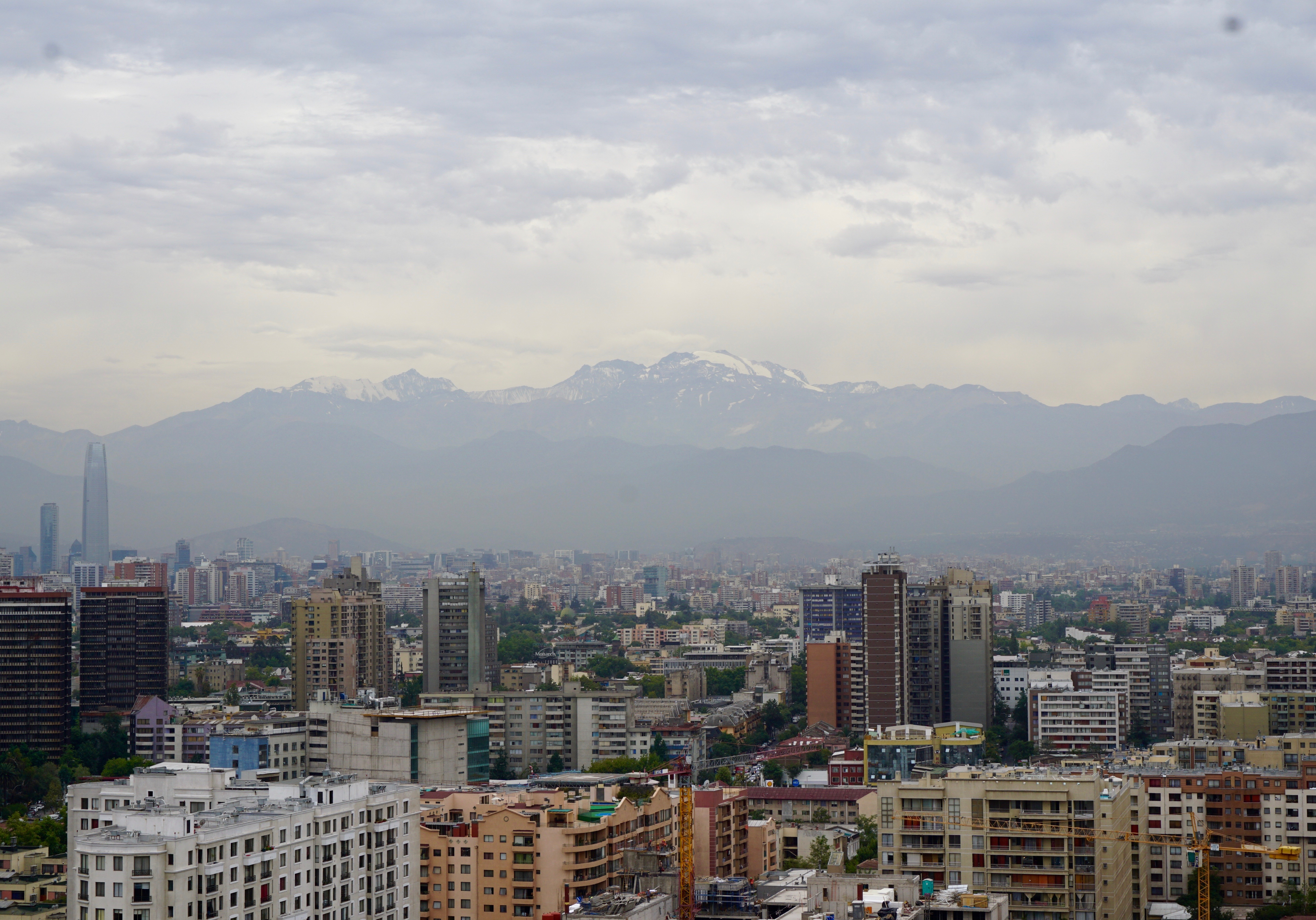 the Andes mountains  surround Santiago