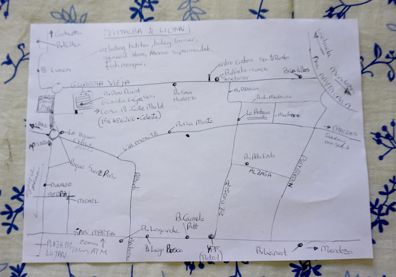 "our wine tasting ""treasure map"""