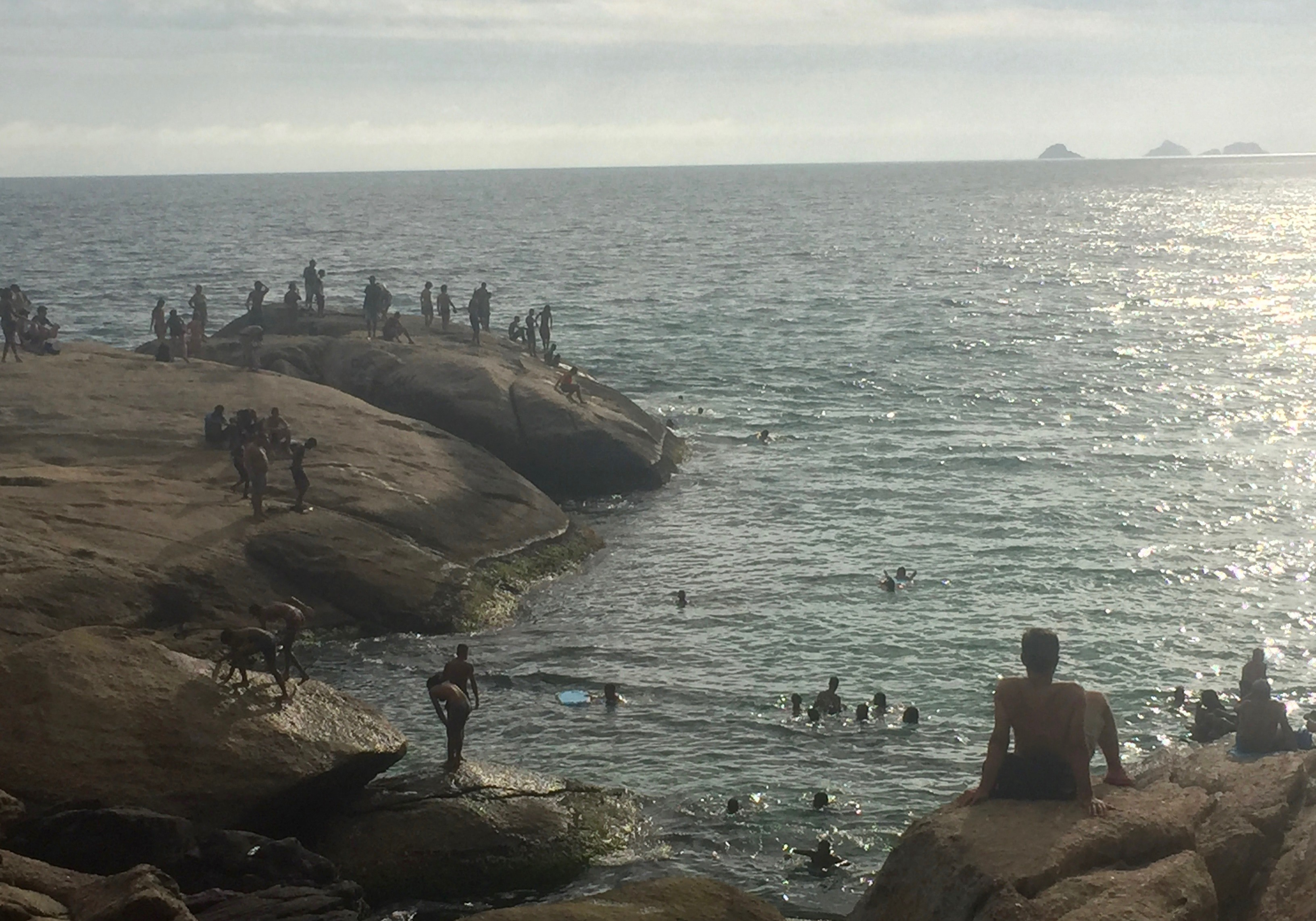 locals lounging New Years Day